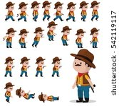cowboy character sprites for...   Shutterstock .eps vector #542119117