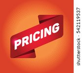 pricing arrow tag sign. | Shutterstock .eps vector #542119537