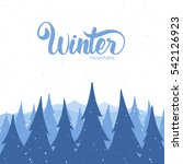 vector illustration  winter... | Shutterstock .eps vector #542126923
