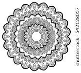 round ornamental mandala for...   Shutterstock .eps vector #542128057