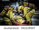 firefighters training with... | Shutterstock . vector #542129047