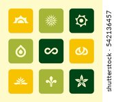 vector flat icons set   nature...   Shutterstock .eps vector #542136457