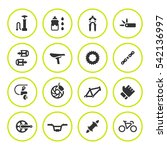 set round icons of bicycle... | Shutterstock .eps vector #542136997