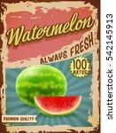 watermelon vintage banner | Shutterstock .eps vector #542145913