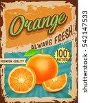 orange vintage banner | Shutterstock .eps vector #542147533