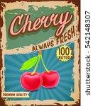 cherry vintage banner | Shutterstock .eps vector #542148307
