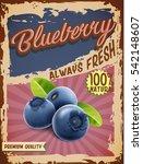 blueberry vintage banner | Shutterstock .eps vector #542148607