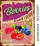 berries vintage banner | Shutterstock .eps vector #542151097