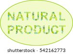 natural product label   Shutterstock .eps vector #542162773