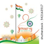 republic day of india. 26 th of ... | Shutterstock .eps vector #542163517