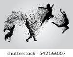 dancing woman | Shutterstock .eps vector #542166007