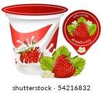 vector. red ripe  strawberry... | Shutterstock .eps vector #54216832