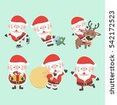 santa claus illustration.... | Shutterstock .eps vector #542172523