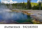 Small photo of Abyss Hot Springs in Yellowstone National Park / Abyss Hot Springs / Abyss Hot Springs in Summer