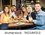 portrait of a group of five... | Shutterstock . vector #542184313