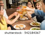closeup of a group of young... | Shutterstock . vector #542184367
