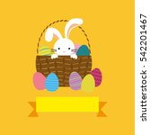 Happy Easter Card Icon Vector...