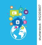 social media and networking... | Shutterstock .eps vector #542203837