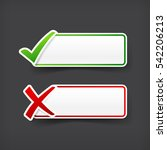 set of green and red check mark ... | Shutterstock .eps vector #542206213