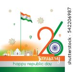 india 26th january vector ... | Shutterstock .eps vector #542206987