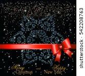 snowflake mandala for greeting... | Shutterstock .eps vector #542208763