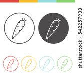 vector set of carrot icons in... | Shutterstock .eps vector #542257933