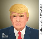 donald trump. vector... | Shutterstock .eps vector #542261443