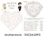 wedding activity book for kids. ... | Shutterstock .eps vector #542261893