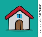 home house  in cartoon free... | Shutterstock .eps vector #542273203