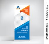 banner roll up design  business ...   Shutterstock .eps vector #542299117