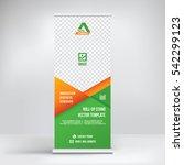 banner roll up design  business ...   Shutterstock .eps vector #542299123