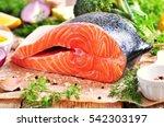 Wild Raw Salmon With Broccoli ...