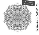 outline mandala for coloring... | Shutterstock .eps vector #542308153