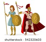 spartan male and female... | Shutterstock .eps vector #542320603