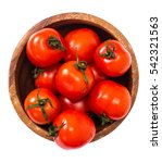 little fresh tomatoes in a bowl.... | Shutterstock . vector #542321563