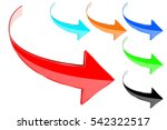 arrows. colored 3d shiny icons. ... | Shutterstock .eps vector #542322517
