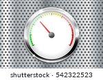 blank gauge on metal perforated ... | Shutterstock .eps vector #542322523