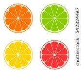 icon citrus  orange  lime ... | Shutterstock .eps vector #542324467