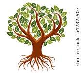 art illustration of branchy... | Shutterstock . vector #542325907
