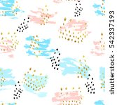 seamless pattern with hand... | Shutterstock .eps vector #542337193