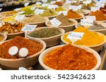 closeup of a counter with a big ... | Shutterstock . vector #542342623