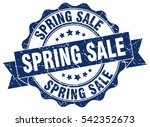 spring sale. stamp. sticker.... | Shutterstock .eps vector #542352673