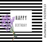 square birthday greetings card  ... | Shutterstock .eps vector #542354113