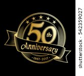 50th anniversary design... | Shutterstock .eps vector #542359027