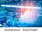 stock market or forex trading... | Shutterstock . vector #542374687