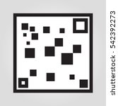 qr code scan icon in trendy...