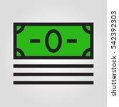 money cash icon in trendy flat...
