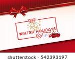 winter holidays. lettering... | Shutterstock .eps vector #542393197