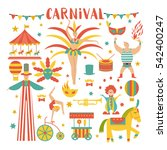 vector collection with carnival ... | Shutterstock .eps vector #542400247
