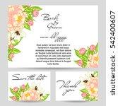 romantic invitation. wedding ... | Shutterstock . vector #542400607